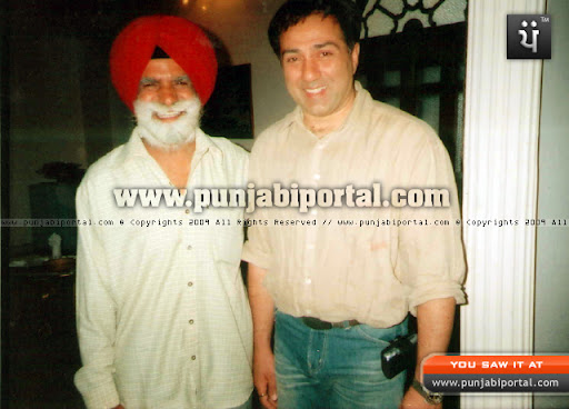 Author Master Sarjit Singh Sandhu with Sunny Deol