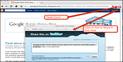 Tweet Button Untuk Pengguna Google Chrome   Extension