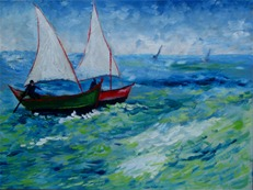 Barcos 30 x 40 cm OsT 2008