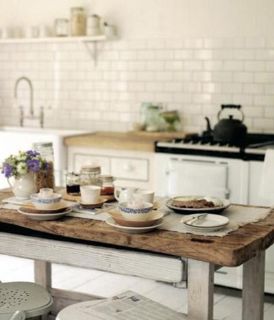 Moderno Mesa Cocina Rustica Imágenes - Ideas para el hogar - telchac ...