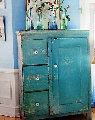 En mi espacio vital muebles recuperados y decoraci n for Colores vintage para muebles