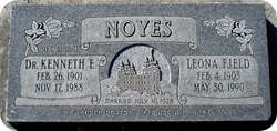 Kenneth Noyes MD headstone