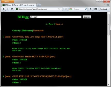 BTDigg-BitTorrent-DHT-search-engine
