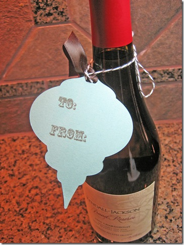 Ornament Bottle Tag Back