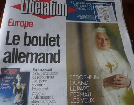 Pape boulet Libé