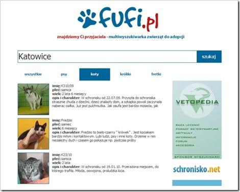 fufi wyszukiwarka zwierzat
