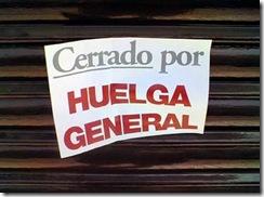 cerrado por huelga general