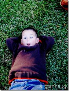 Noah on grass
