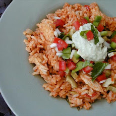 Latin Chicken Rice Pot W.salsa & Avocado Cream (Rachael Ray)