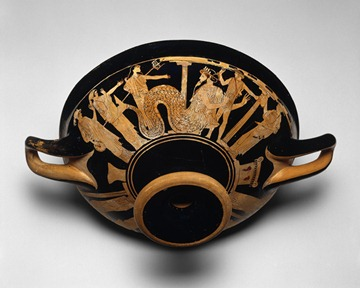 Attic red-figure Kylix, ca. 480 BC