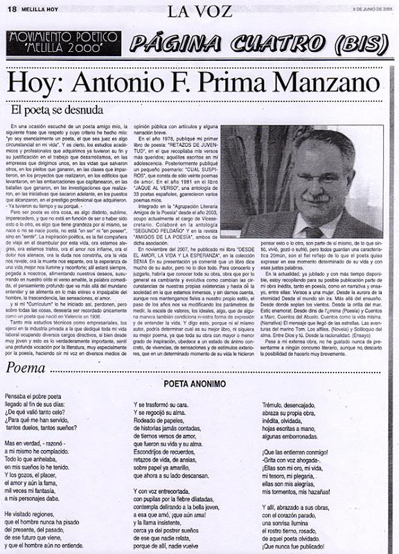 Artículos de Antonio F. Prima Manzano