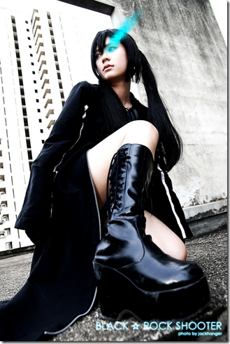 vocaloid cosplay - black rock shooter - kuroi mato