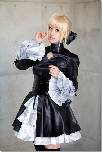 fate/hollow ataraxia cosplay - dark saber 02