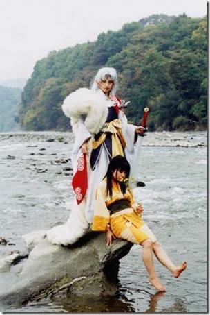 inuyasha cosplay - sesshoumaru and rin