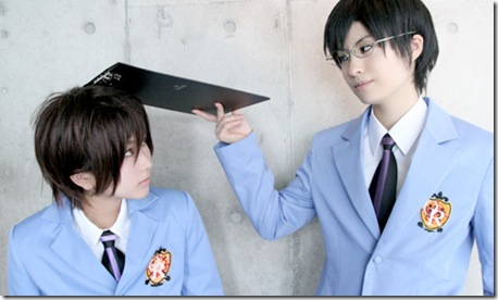 ouran high school host club cosplay - fujioka haruhi and ootori kyouya
