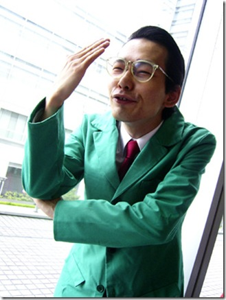 gyakuten saiban 3 / phoenix wright: ace attorney - trials and tribulations cosplay - auchi takefumi / winston payne