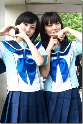 loveplus cosplay - kobayakawa rinko and anegasaki nene from comiket 2010