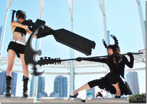 black rock shooter cosplay - black rock shooter and dead master 02
