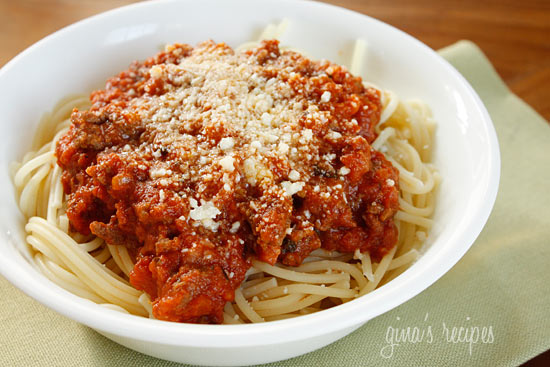 Bolognese sauce is a ground beef ragú made with pancetta, onions ...