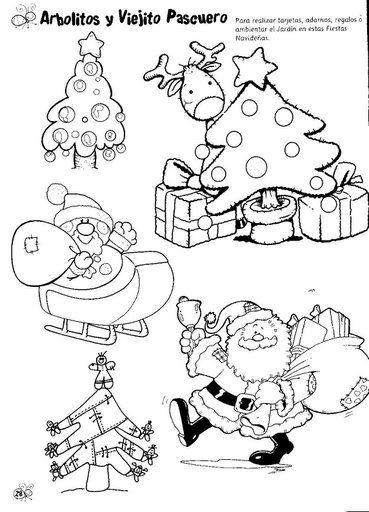 Laminas para pintar la navidad - Laminas de navidad para colorear ...