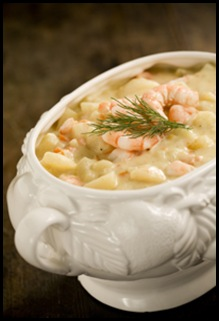 Potato Soup w/ Shrimp