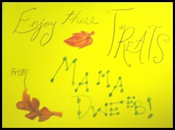 blog or treat card inside