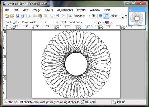 Spirograph in Paint.Net