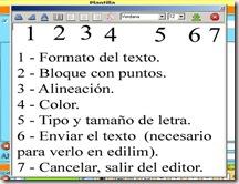 editor de texto - Edilim
