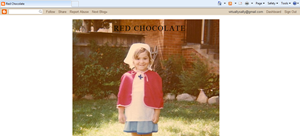 red chocolate blog