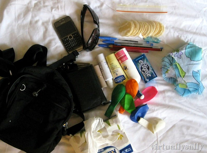 contents of my bag 6 Feb 2010