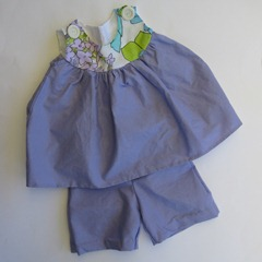 enid gilchrist top with no pattern pants