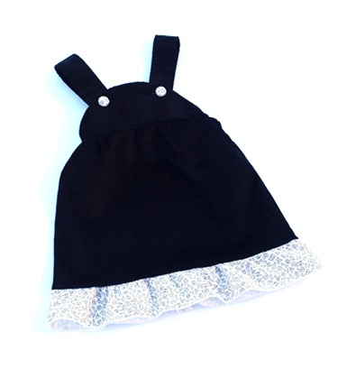 black cord dress