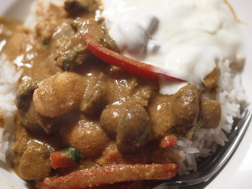 butter bean korma curry