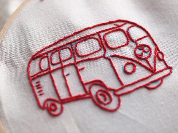 red combi van