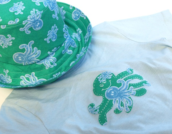 octo hat & shirt