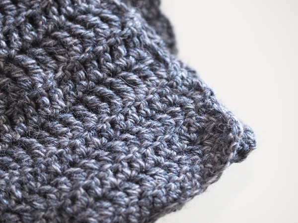 grey scarf end