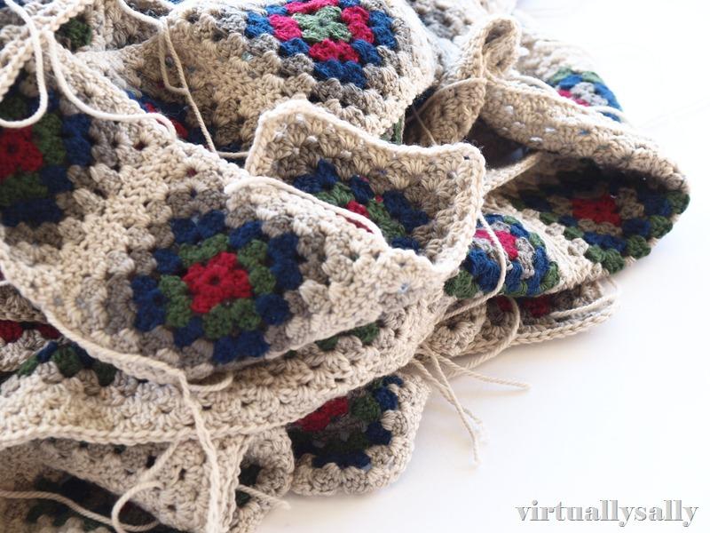a pile of crochet