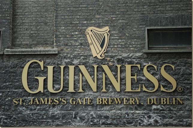 DUB Dublin - Guinness Storehouse and Brewery logo at entrance gate 3008x2000