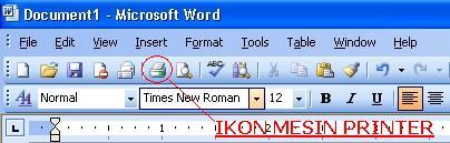 Toolbar Microsoft Word