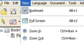 Toolbar Foxit PDF Reader
