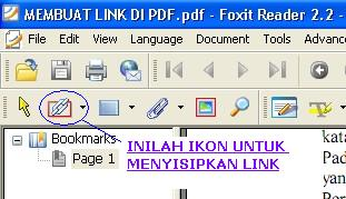 Toolbar insert link