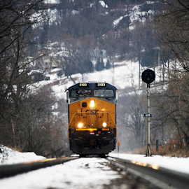 coming fast by Alec Halstead - Transportation Trains