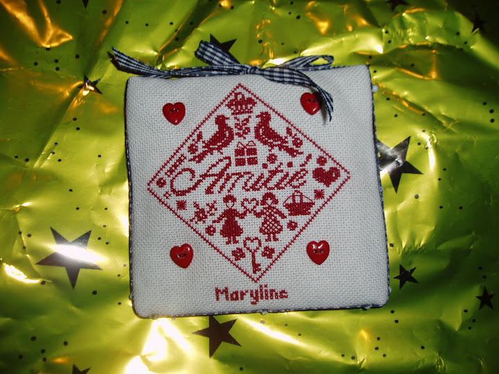 pour Maryline .....  dans point de croix