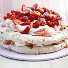 Praline Meringue Cake With Strawberries