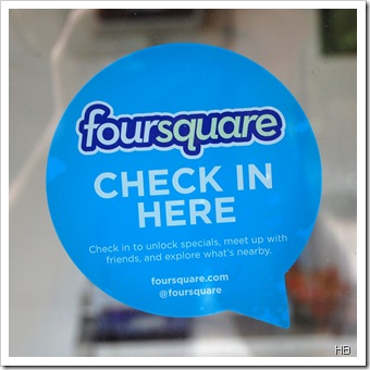 Foursquare Fensteraufkleber c H. Brune