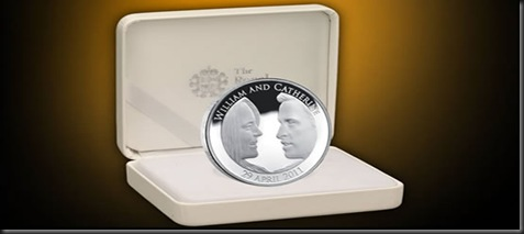 prince william and catherine silver proof coin