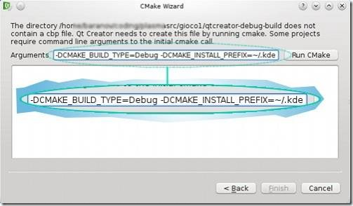 Qt Creator: CMake Wizard (2 of 2)