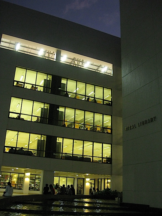 Rizal Library in the early evening