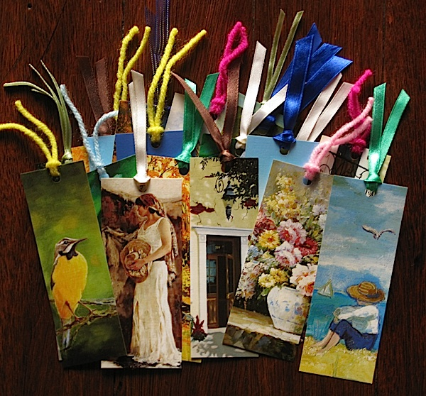 bookmarks made out of old desk calendars