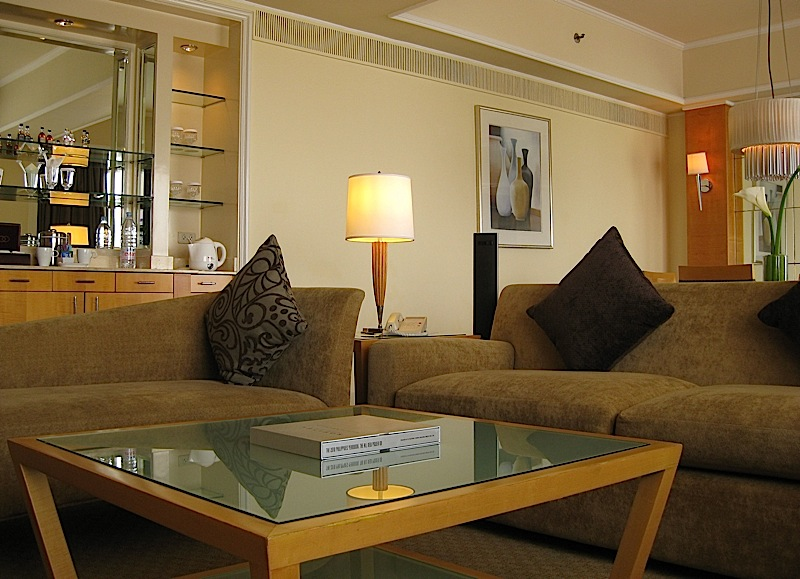 sitting room of Sofitel Manila's Opera Suite